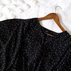 Mossimo Black Polka Dot Midi Dress! Size Small!